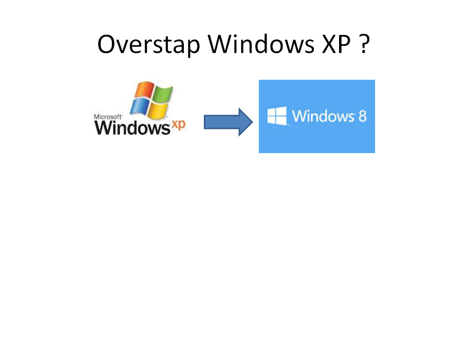 Overstap van Windows XP naar Windows 7 / 8